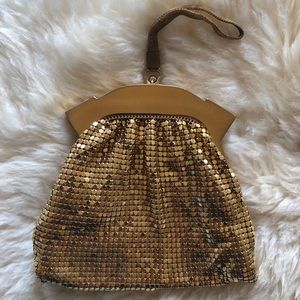 Vintage Whiting & Davis Gold mini bag
